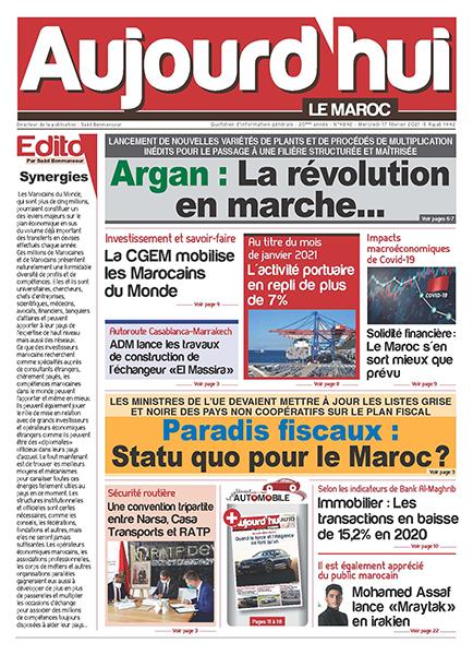 Journal Électronique du Mercredi 17 Février 2021