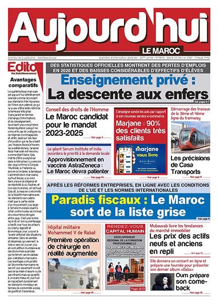 Journal Électronique du Mardi 23 Février 2021