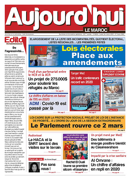 Journal Électronique du Lundi 1er Mars 2021