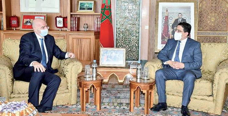 Infantino reçu à Rabat par Bourita