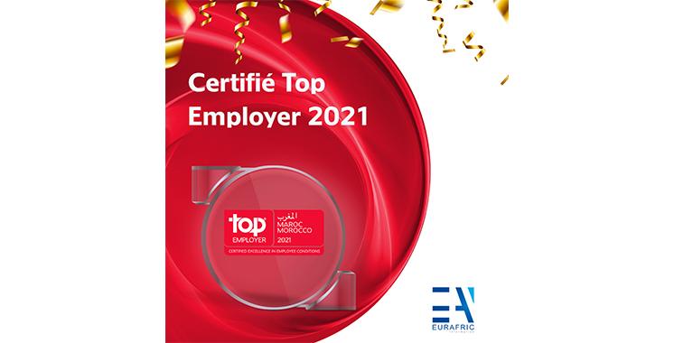Eurafric Information certifiée «Top Employer» pour la 2ème année consécutive