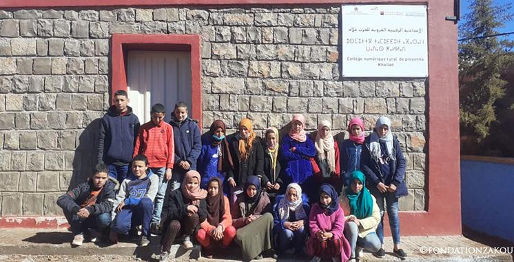 L'innovation au service de l'inclusion : Un Collège rural numérique  de proximité lancé au Maroc