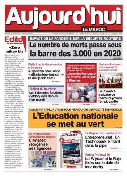 Journal Électronique du Mercredi 10 Février 2021