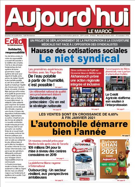 Journal Électronique du Mercredi 3 Février 2021