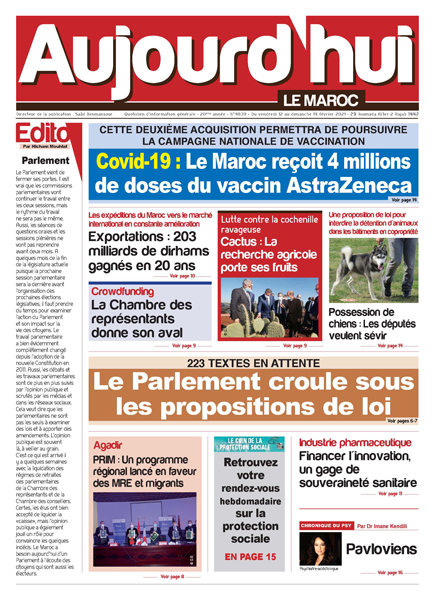 Journal Électronique du Vendredi 12 Février 2021