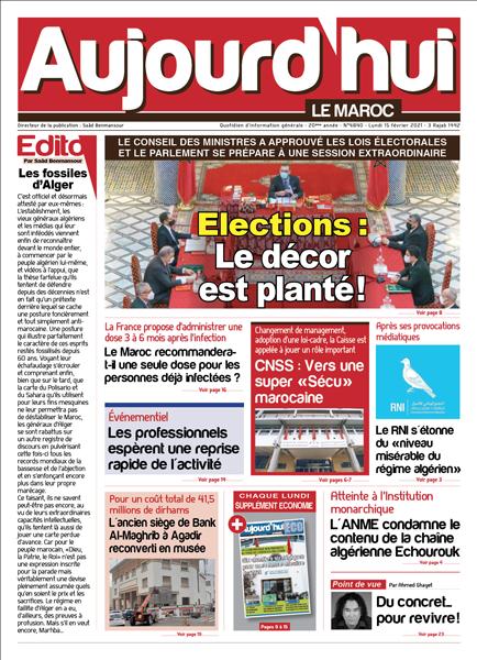 Journal Électronique du Lundi 15 Février 2021