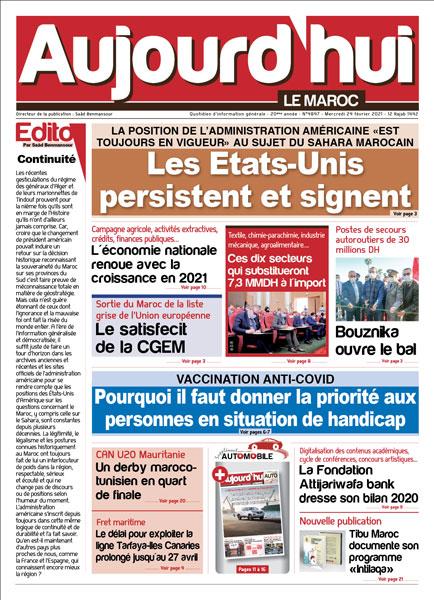 Journal Électronique du Mercredi 24 Février 2021