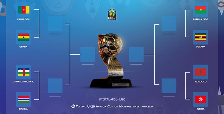 CAN U20 Mauritanie  : Un derby maroco-tunisien  en quart de finale