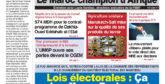 Journal Électronique du Mardi 2 Mars 2021