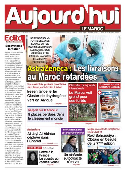 Journal Électronique du Lundi 22 Mars 2021