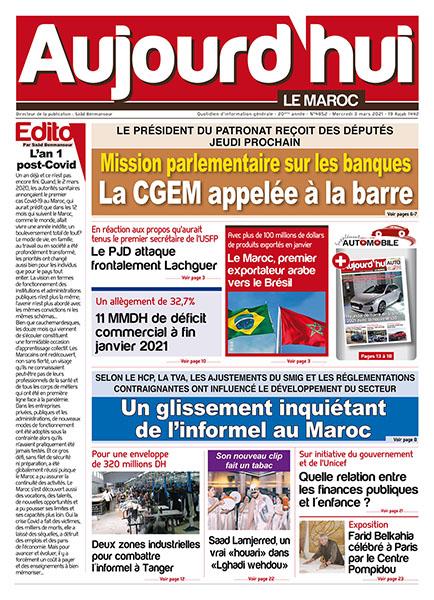 Journal Électronique du Mercredi 3 Mars 2021