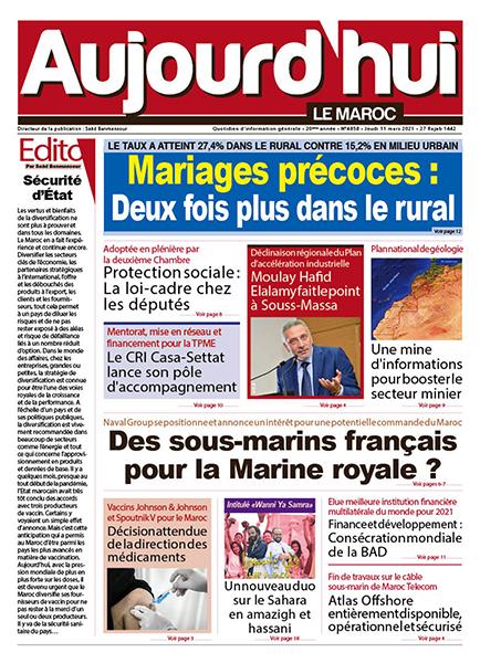 Journal Électronique du jeudi 11 Mars 2021