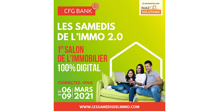 CFG Bank et Injaz Solutions lancent  le 1er Salon immobilier 100% digital