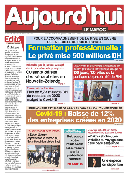 Journal Électronique du Vendredi 19  au Dimanche 21 Mars 2021