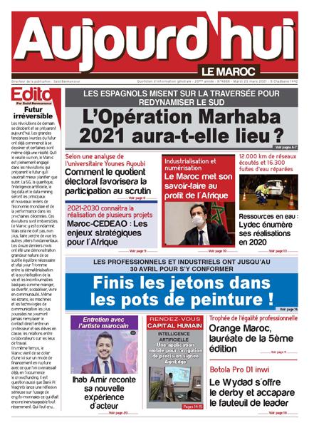Journal Électronique du Mardi 23 Mars 2021