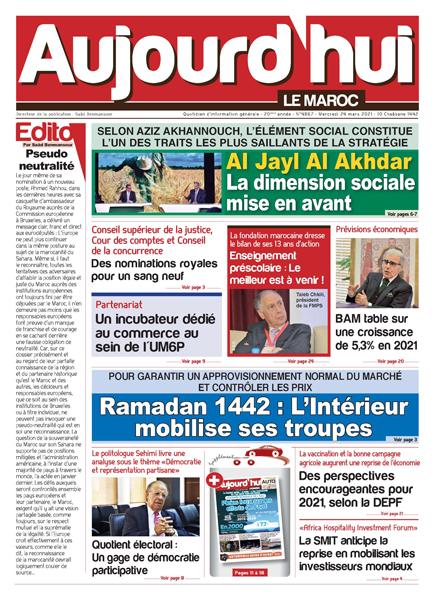 Journal Électronique du Mercredi 24 Mars 2021