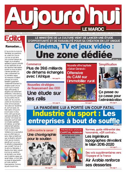 Journal Électronique du Mardi 30 Mars 2021