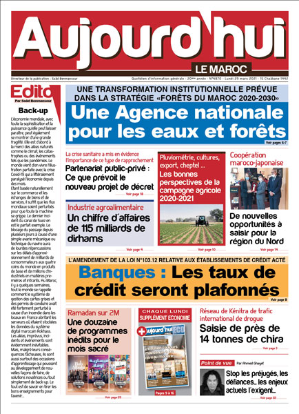 Journal Électronique du Lundi 29 Mars 2021