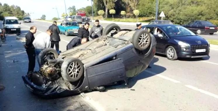 Accidents de la route: Dix morts et 1.740 blessés en périmètre urbain la semaine dernière