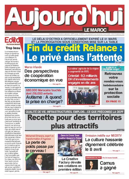 Journal Électronique du Vendredi 2 au Dimanche 4 Avril 2021