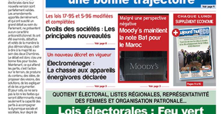 Journal Électronique du lundi 12 avril 2021