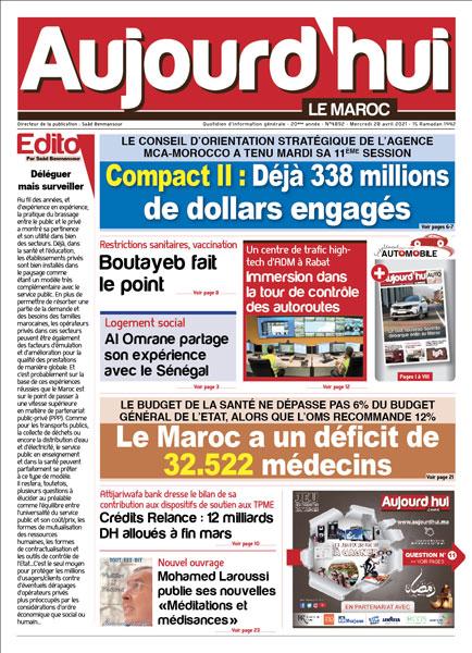 Journal Électronique du Mercredi 28 avril 2021