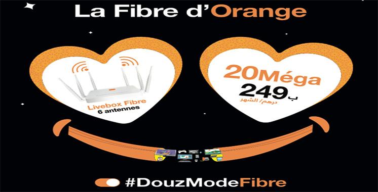 20 Méga pour 249 DH/mois : Orange dévoile son offre sur la fibre optique