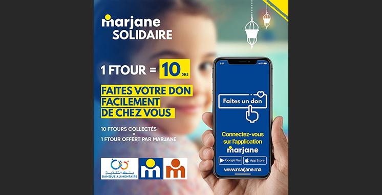 « Marjane solidaire », une opération signée Marjane Holding en association avec la Banque Alimentaire.