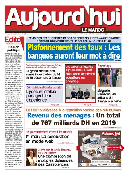 Journal Électronique du Jeudi 29 avril 2021
