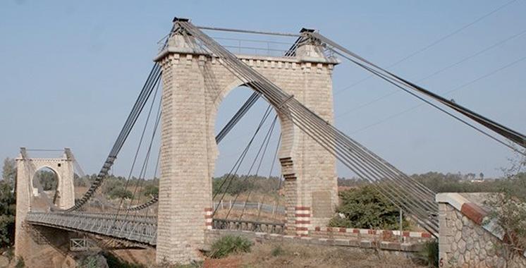 Pont sur l'Oued Bouznika  : L'état d'avancement des travaux est de 80%