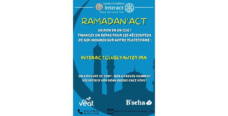 Destiné aux familles dans le besoin : «Ramdan'act» : Des élèves du lycée Lyautey lancent une action solidaire