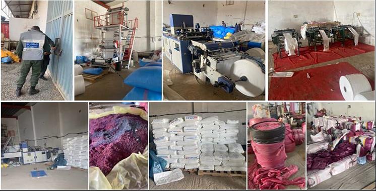 Saisie de 120 tonnes de sacs en plastique à Benslimane