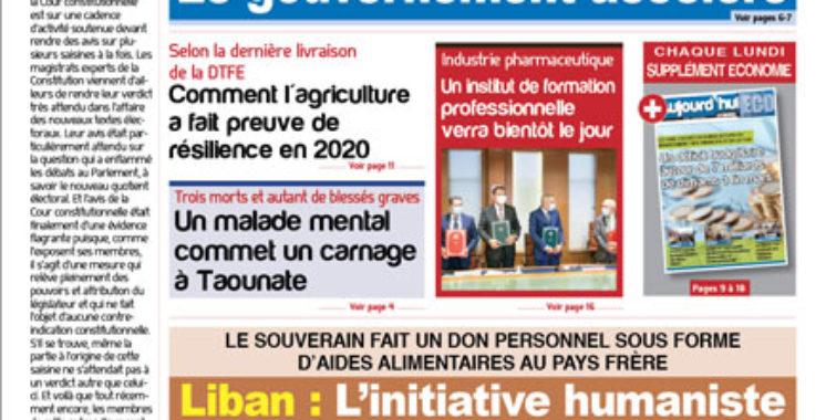 Journal Électronique du Lundi 19 avril 2021