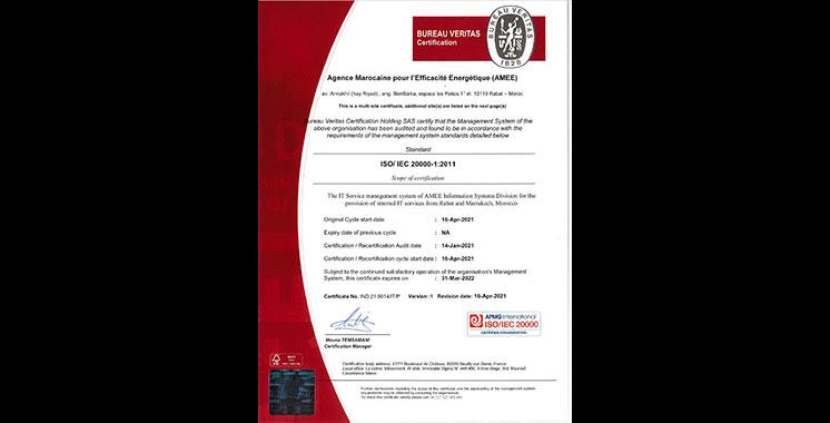 Système de gestion des services IT : Nouvelle certification de l'AMEE