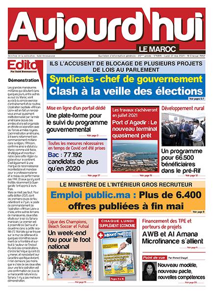Journal Électronique du lundi 31 mai 2021