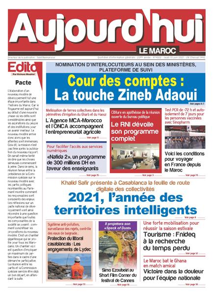 Journal Électronique du Jeudi 10 juin 2021