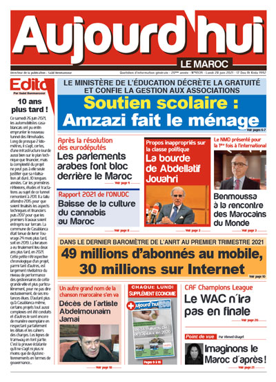 Journal Électronique du Lundi 28 juin 2021 | Aujourd'hui ...