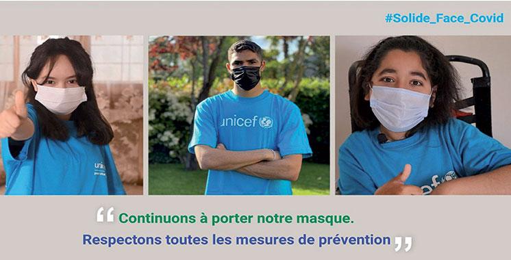 Unicef-Maroc lance la campagne  «Solide face au Covid»
