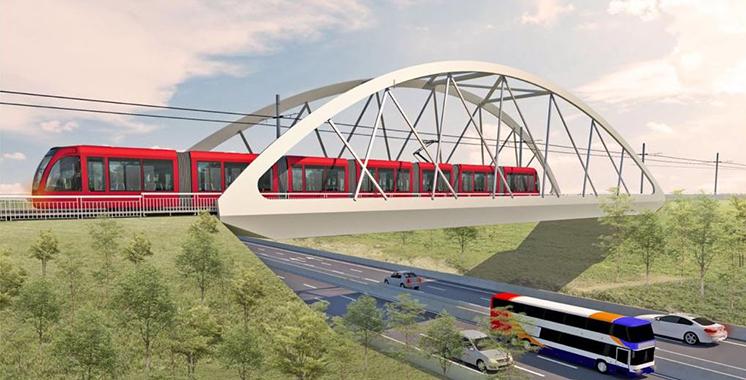 Casatramway: la ligne 4 franchit une étape majeure dans la réalisation du pont bow-string