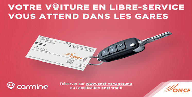 En partenariat avec l'ONCF – Carmine : Des véhicules en libre-service dans les gares