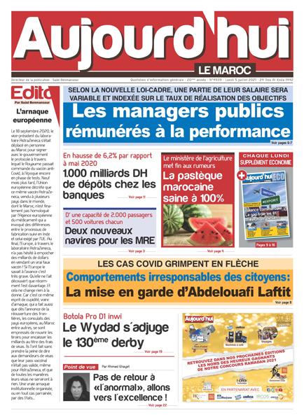Journal Électronique du Lundi 5 Juillet 2021