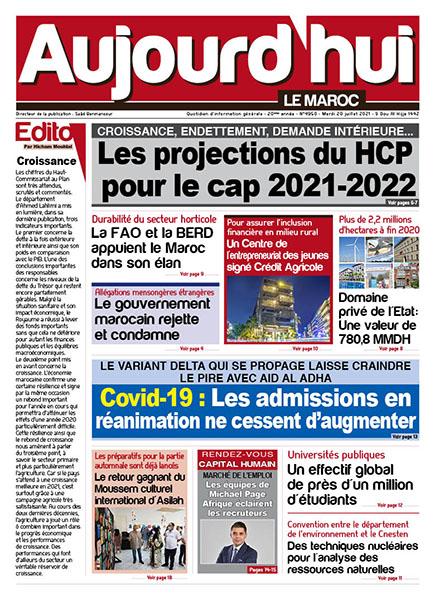 Journal Électronique du Mardi 20 Juillet 2021