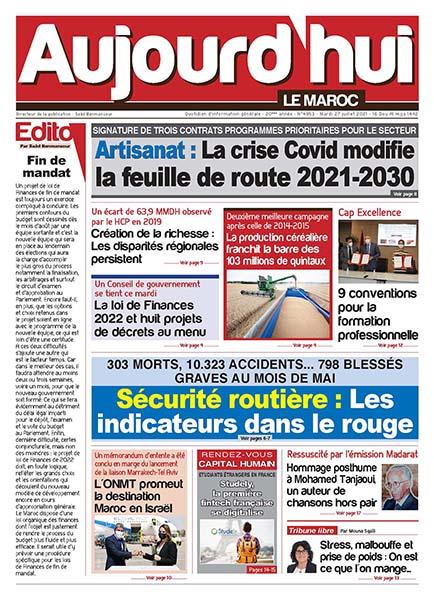 Journal Électronique du Mardi 27 Juillet 2021