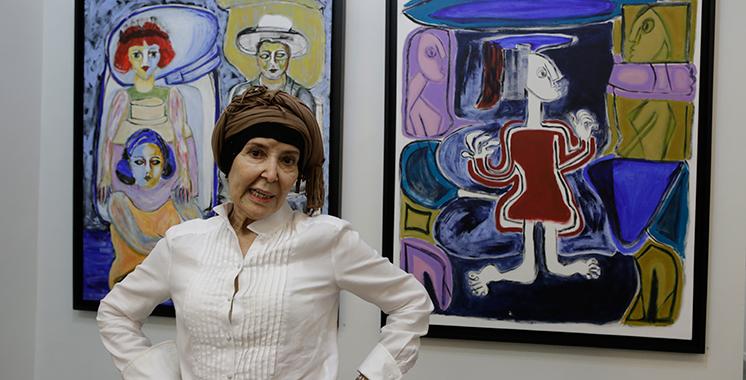 Najia Sedrati expose pour la première  fois au Maroc