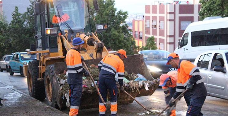 Tanger : 9.000 tonnes de déchets collectés au 1er jour d'Al Aïd