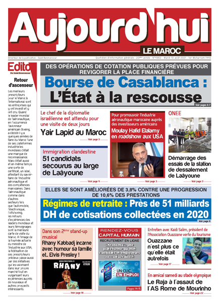 Journal Électronique du Mardi 10 août 2021