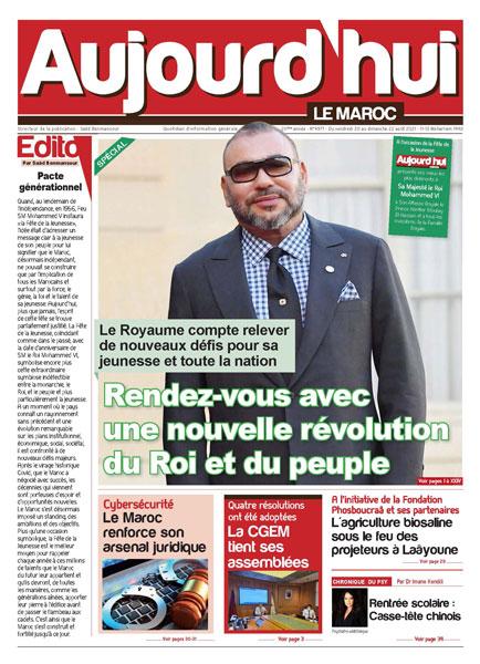 Journal Électronique du Vendredi 20 août 2021