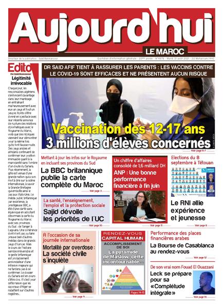 Journal Électronique du Mardi 31 août 2021