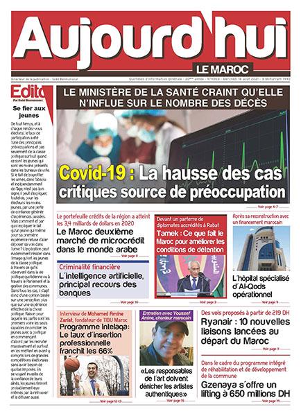 Journal Électronique du Mercredi 18 août 2021