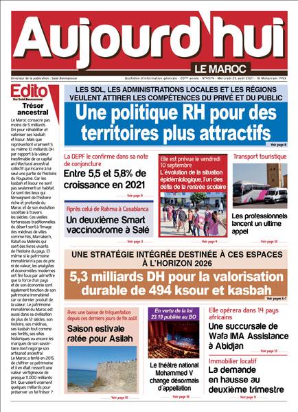 Journal Électronique du Mercredi 25 août 2021